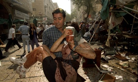 Triple suicide bombing in Ben Yehuda, Jerusalem, 1997 (illustration)
