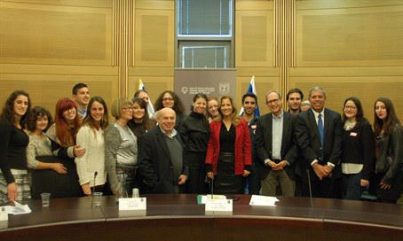 Jewish Agency Chairman Natan Sharansky and Co-Chair of the Knesset Caucus for Strengtheni