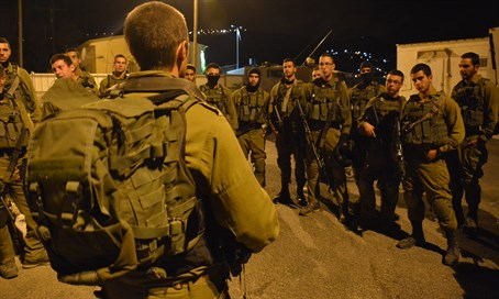 IDF soldiers during a late night mission in Samaria (archive)