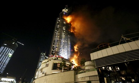 Fire at Dubai's The Address Hotel
