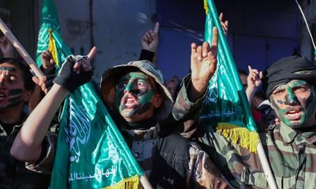 Hamas supporters near Rafah in Gaza (file)