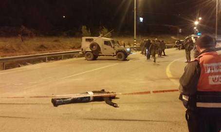 Terrorist would-be stabber shot at Gush Etzion Junction