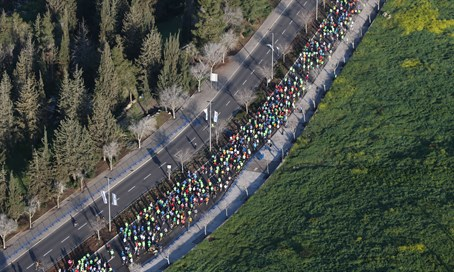 (Illutrative)Aerial view of the Jerusalem Marathon