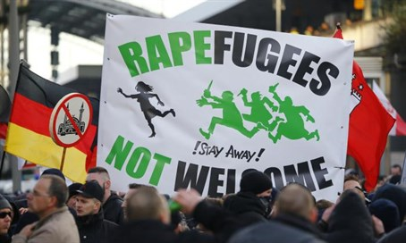 Anti-immigrant protest in Cologne (file)