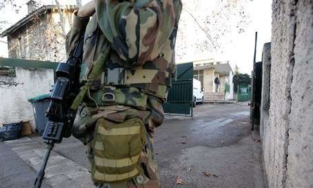 Security outside Jewish school in Marseille