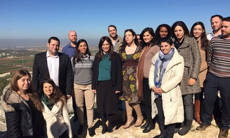 Hotovely with Foreign Ministry recruits in Samaria