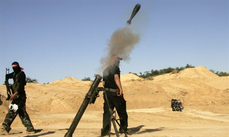 Terrorists fire mortar shells (archive)