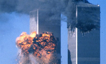 Twin Towers hit during September 11 attack