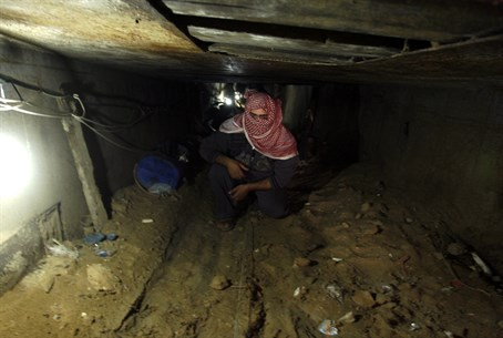 Gaza terror tunnel (illustration)