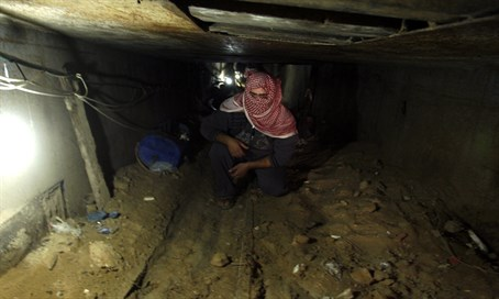 Gaza terror tunnel (file)