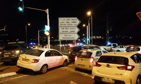 Scene of Givat Ze'ev stabbing attack