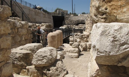 Last remnants of the destruction of the Second Temple