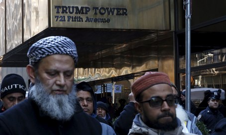 American Muslims protest against Donald Trump in NYC