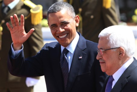 Barack Obama and Mahmoud Abbas