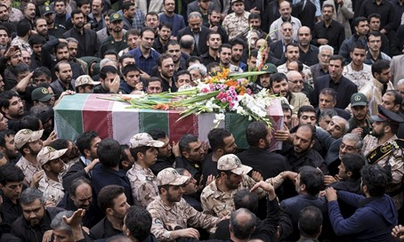Funeral of Iranian fighter killed in Syria (file)