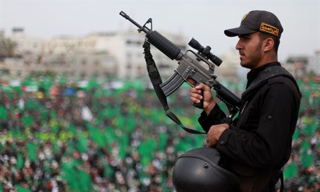 Hamas rally in Gaza (illustration)