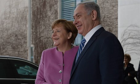 Netanyahu and Merkel in Berlin