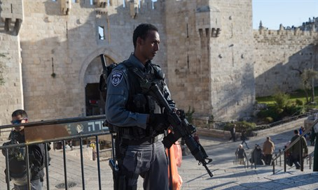 Border Police officer at Damascus Gate