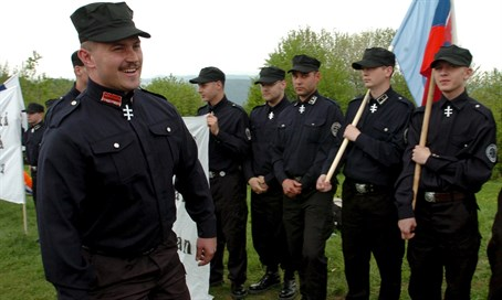 'Our Slovakia' party members in Nazi-esque uniforms