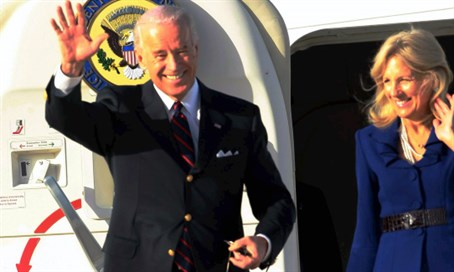 Biden arrives in Israel 2010