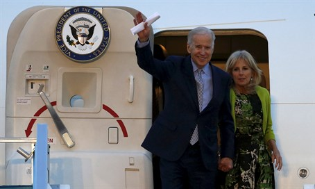 Joe Biden arrives in Israel