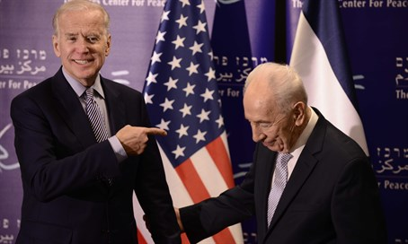 Biden was attending an event with Shimon Peres nearby when Jaffa attack occurred