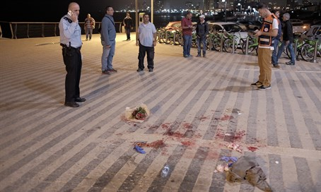 Scene of Jaffa port stabbing spree