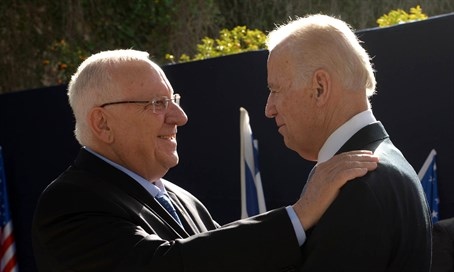 Reuven Rivlin and Joe Biden