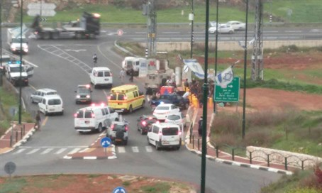 Scene of the attack in Kiryat Arba