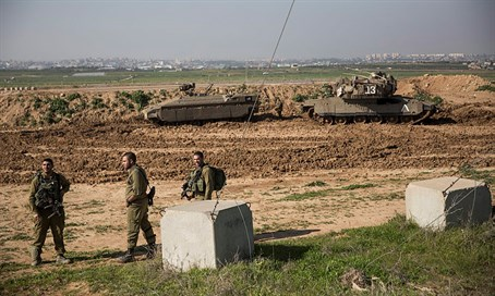 IDF forces near Gaza.