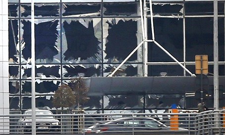 Brussels airport after explosion attacks