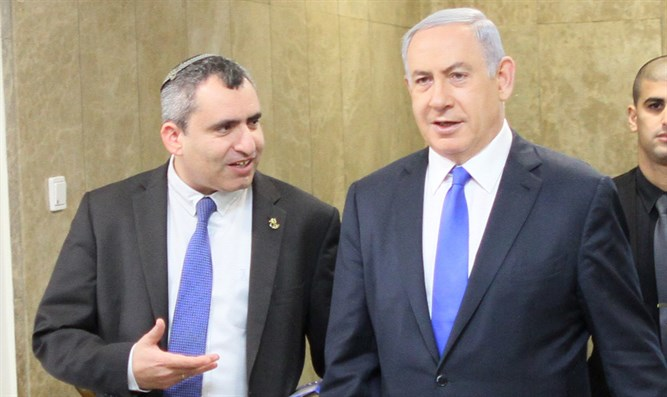 PM Netanyahu and Ze'ev Elkin