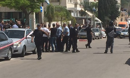 Scene of the attack in Rosh Ha'ayin