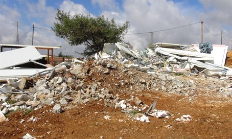 The house demolished in Beit El