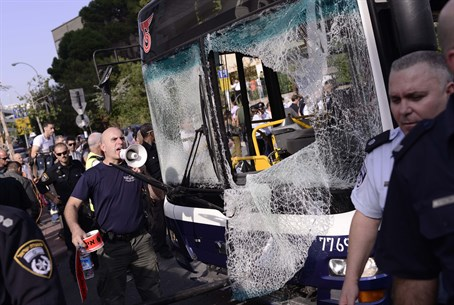 Dan bus bombed in Tel Aviv (file)