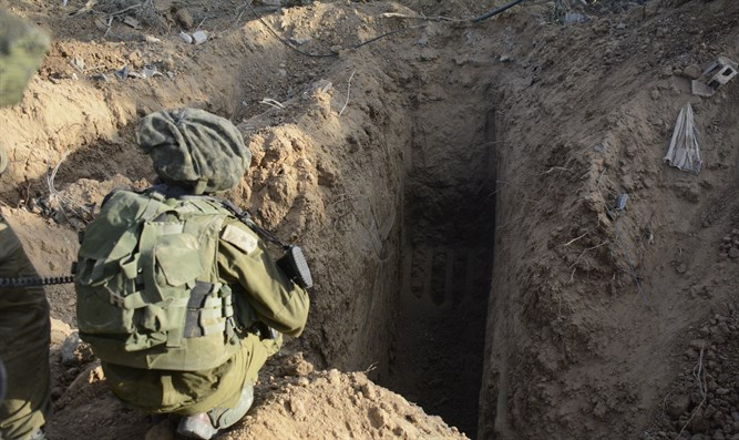 Uncovering tunnels during Gaza War