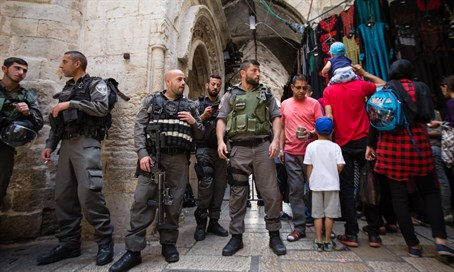 Border Police on the lookout for trouble in Jerusalem