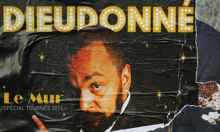 Poster presenting French comedian Dieudonne M'bala M'bal