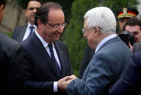 Francoise Hollande, Mahmoud Abbas