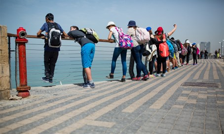 Tourists in Tel Aviv