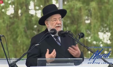Rabbi Lau March of the Living