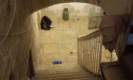 Entrance to reclaimed Jewish home in Jerusalem's Old City