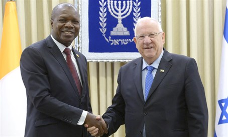 President Rivlin with FM Mabri