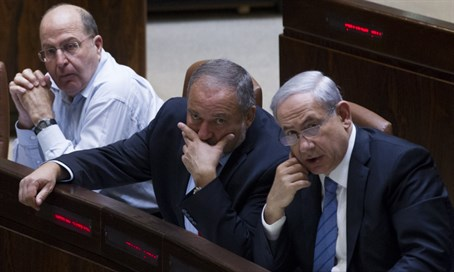 Yaalon, Liberman and Netanyahu