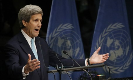 Secretary of State John Kerry at the UN