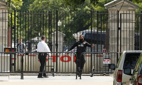 White House on lockdown after shooting