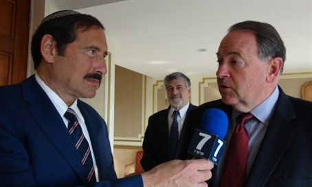 Dr. Joe Frager with Huckabee