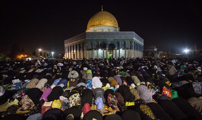 The Temple Mount during Ramadan