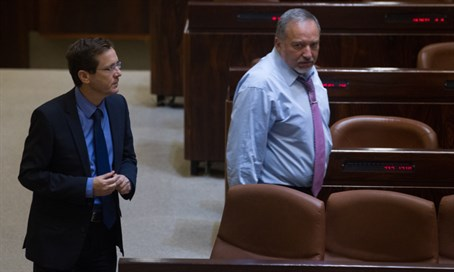 Avigdor Liberman and Yitzhak Herzog
