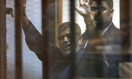 Mohammed Morsi in court